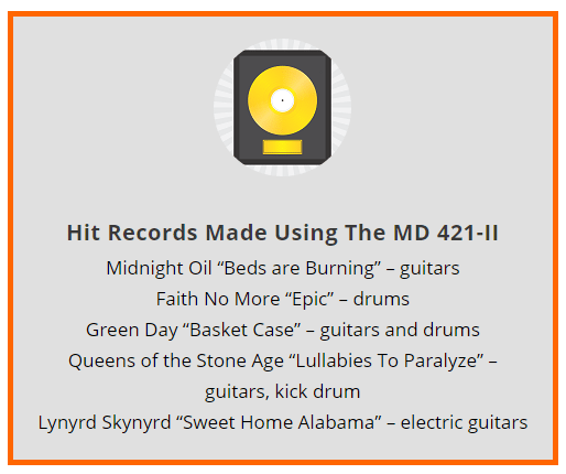 Best Dynami Microphones - MD421-II used on hit songs