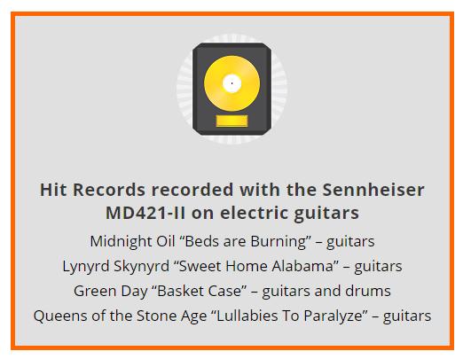 Best Microphones For Recording Electric Guitar - Sennheiser MD421-II