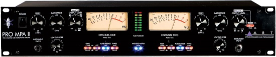 Best Mic Preamps Under $300 - ART Pro MPA II Two Channel Mic Preamp