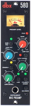 Best 500 Series Mic Preamps - DBX 580 Mic Preamp