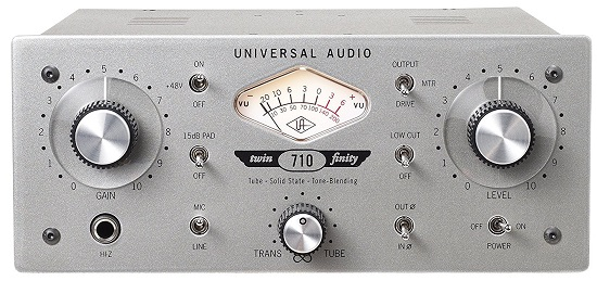 Best Mic Preamps Under $1,000 - Universal Audio 710 Twin-Finity