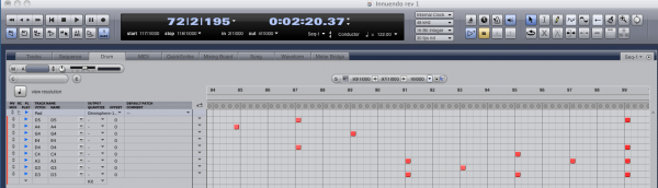 Digital Performer Drum Sequencer - Best DAW/ Recording/ Music Production Software