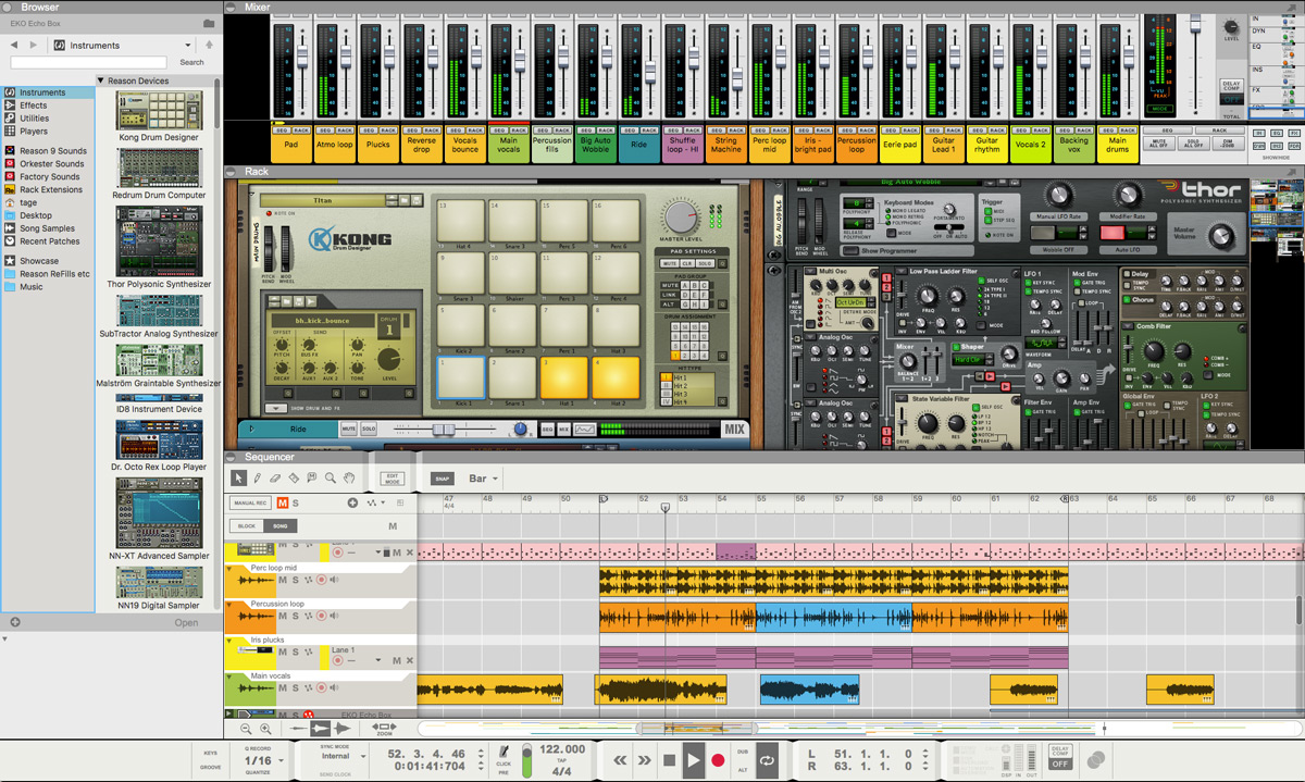 Reason 9 - Best DAW Music Production & Recording Software