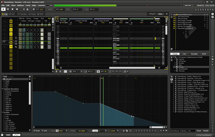 Renoise - Best DAW Music Production & Recording Software