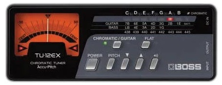 Boss TU-12EX Chromatic Tuner - Best Guitar Tuners For Acoustic Guitars