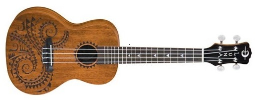 Luna Guitars Tattoo Concert Mahogany Ukulele - Best Ukuleles For Beginners Under $100