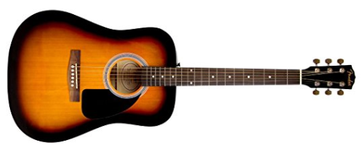 Best Acoustic Guitars Under $200: Fender FA-100 Acoustic Guitar