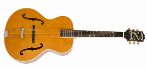 arch-top acoustic guitar