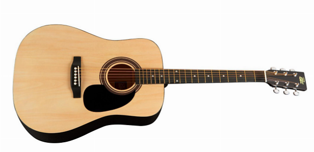 dreadnaught style acoustic guitar